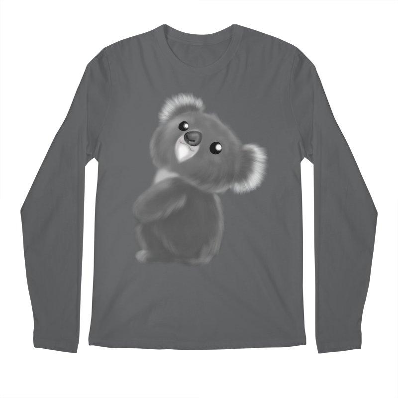 Fluffy Koala Men's Longsleeve T-Shirt by Dino & Panda Artist Shop