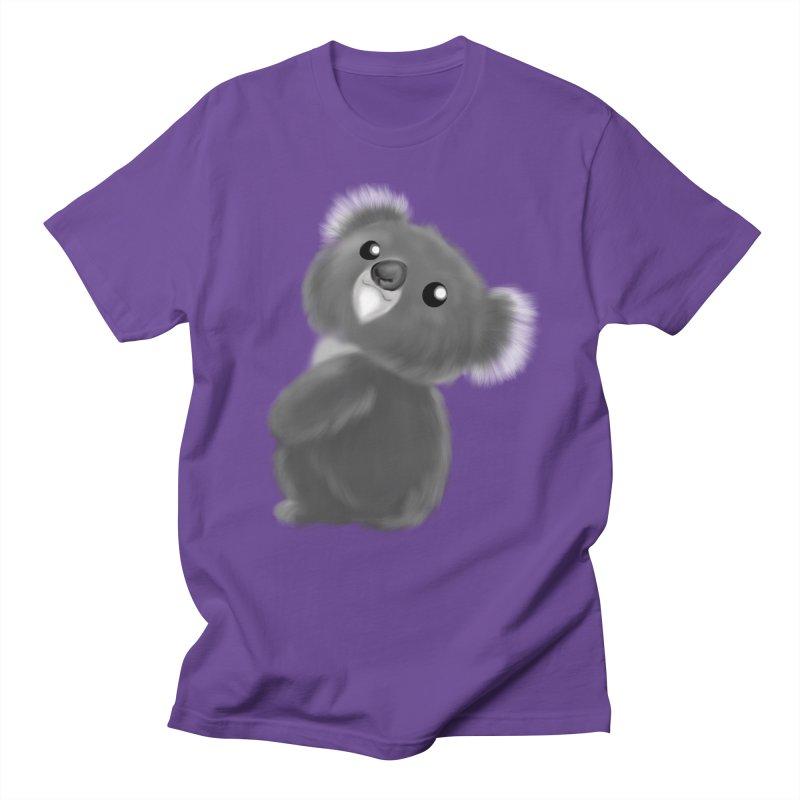 Fluffy Koala Men's Regular T-Shirt by Dino & Panda Inc Artist Shop