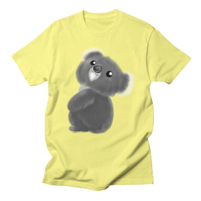 Fluffy Koala Women's Regular Unisex T-Shirt by Dino & Panda Inc Artist Shop
