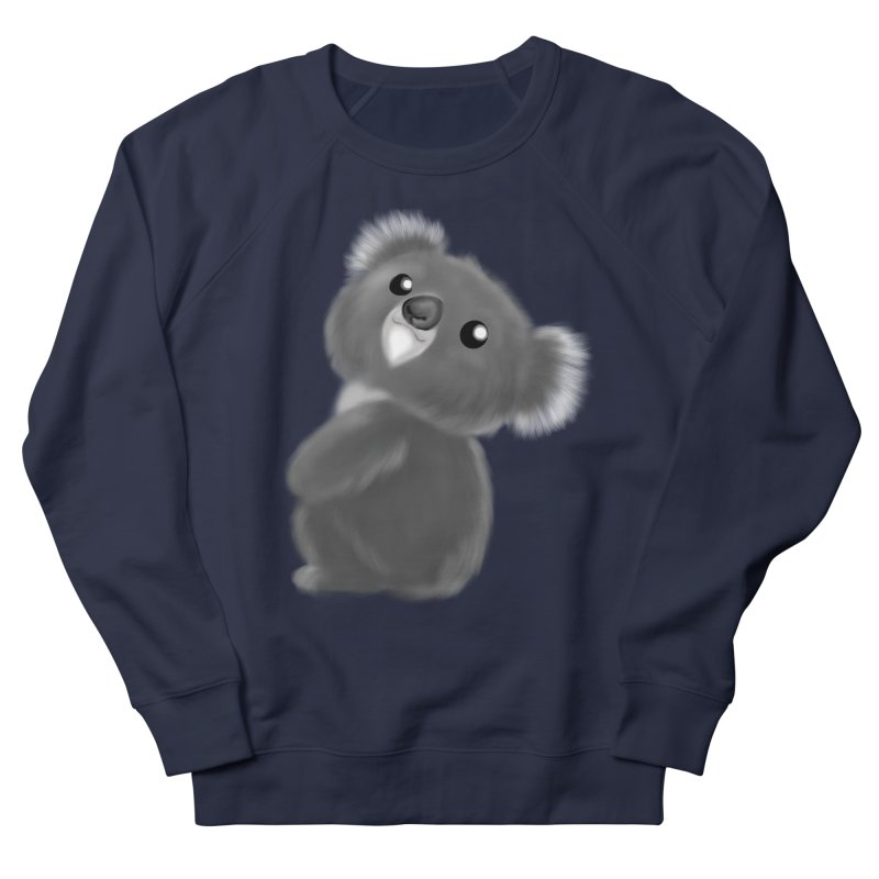 Fluffy Koala Men's French Terry Sweatshirt by Dino & Panda Inc Artist Shop