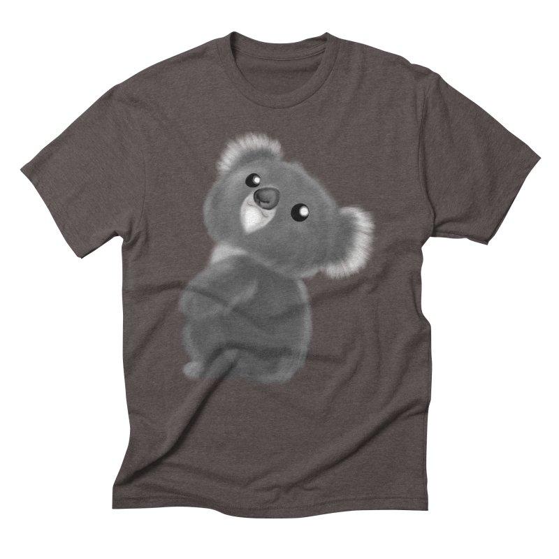 Fluffy Koala Men's Triblend T-Shirt by Dino & Panda Inc Artist Shop