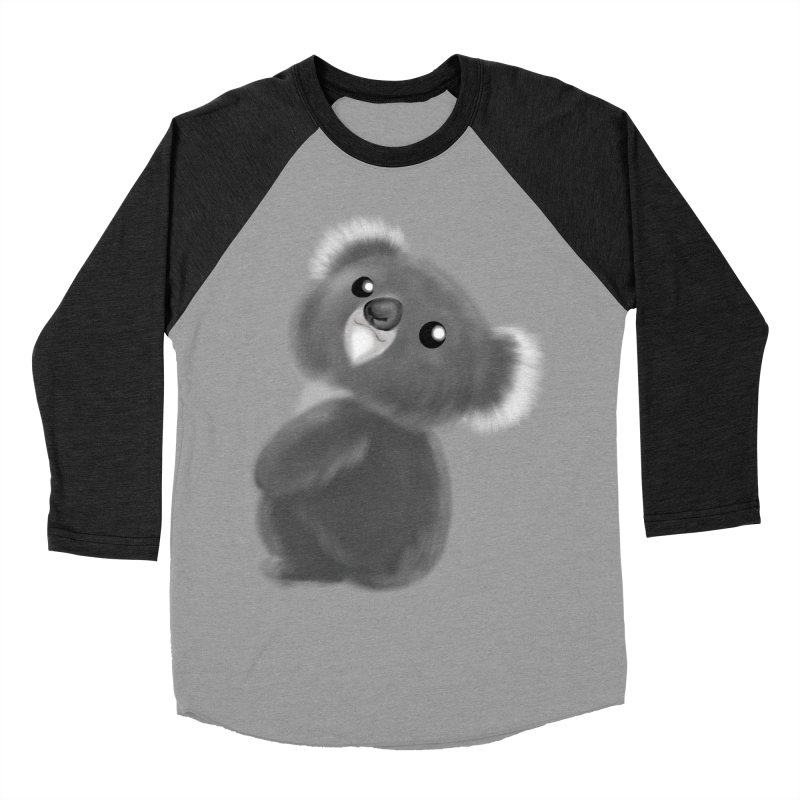 Fluffy Koala Women's Baseball Triblend Longsleeve T-Shirt by Dino & Panda Inc Artist Shop