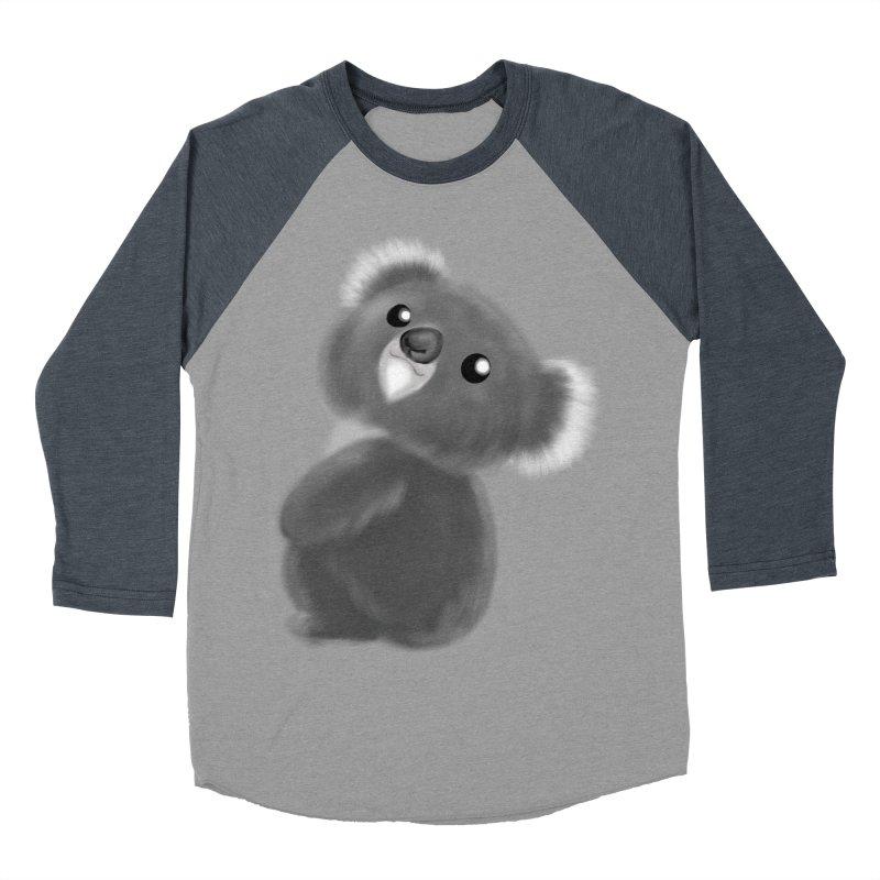 Fluffy Koala Women's Baseball Triblend Longsleeve T-Shirt by Dino & Panda Inc Artist Shop