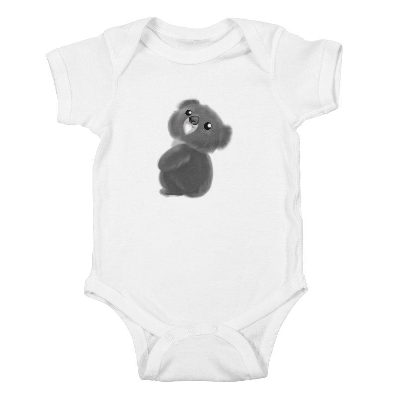Fluffy Koala Kids Baby Bodysuit by Dino & Panda Inc Artist Shop