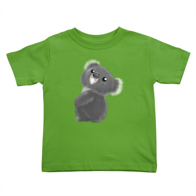 Fluffy Koala Kids Toddler T-Shirt by Dino & Panda Artist Shop