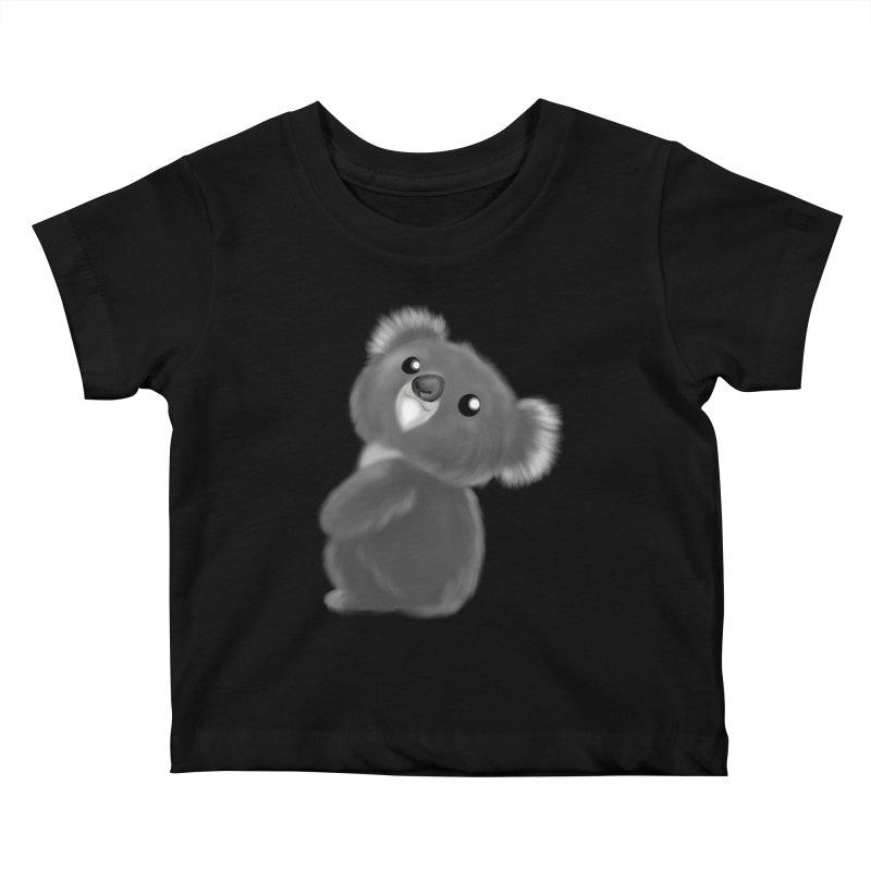 Fluffy Koala Kids Baby T-Shirt by Dino & Panda Inc Artist Shop