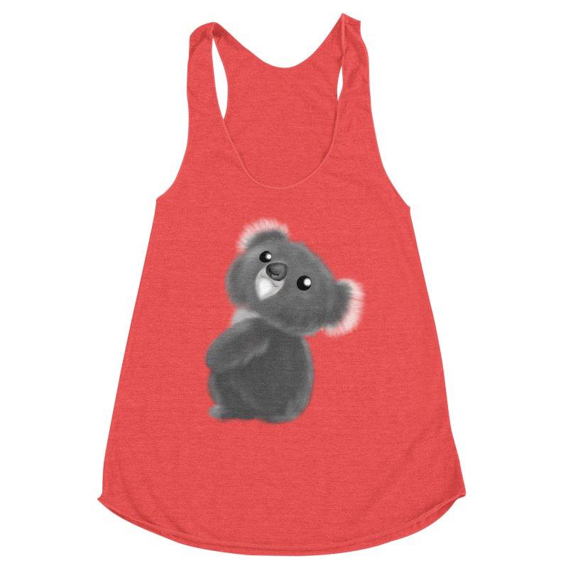 Fluffy Koala Women's Tank by Dino & Panda Artist Shop