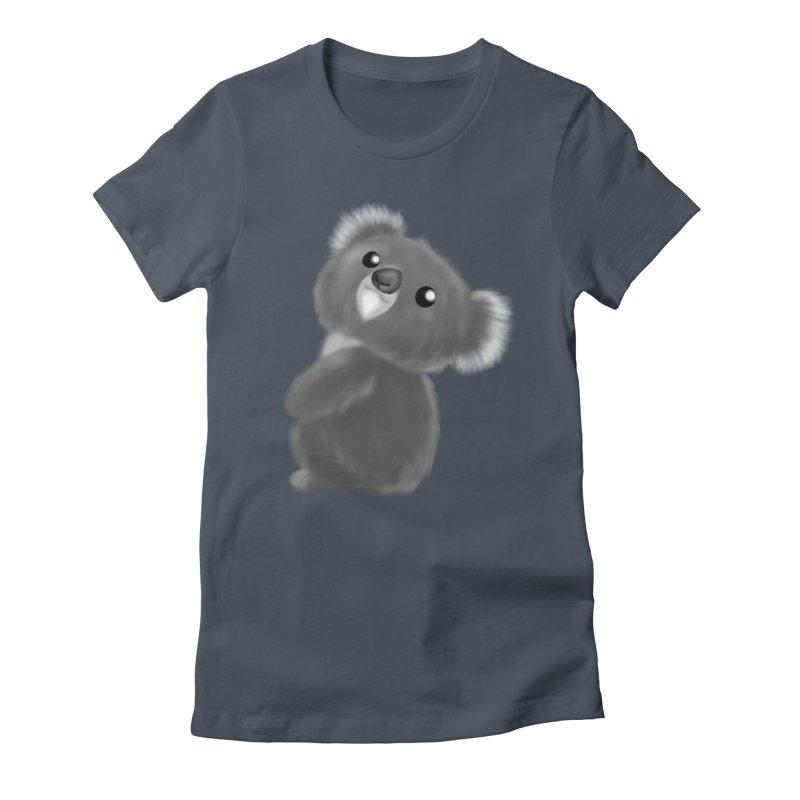 Fluffy Koala Women's T-Shirt by Dino & Panda Artist Shop