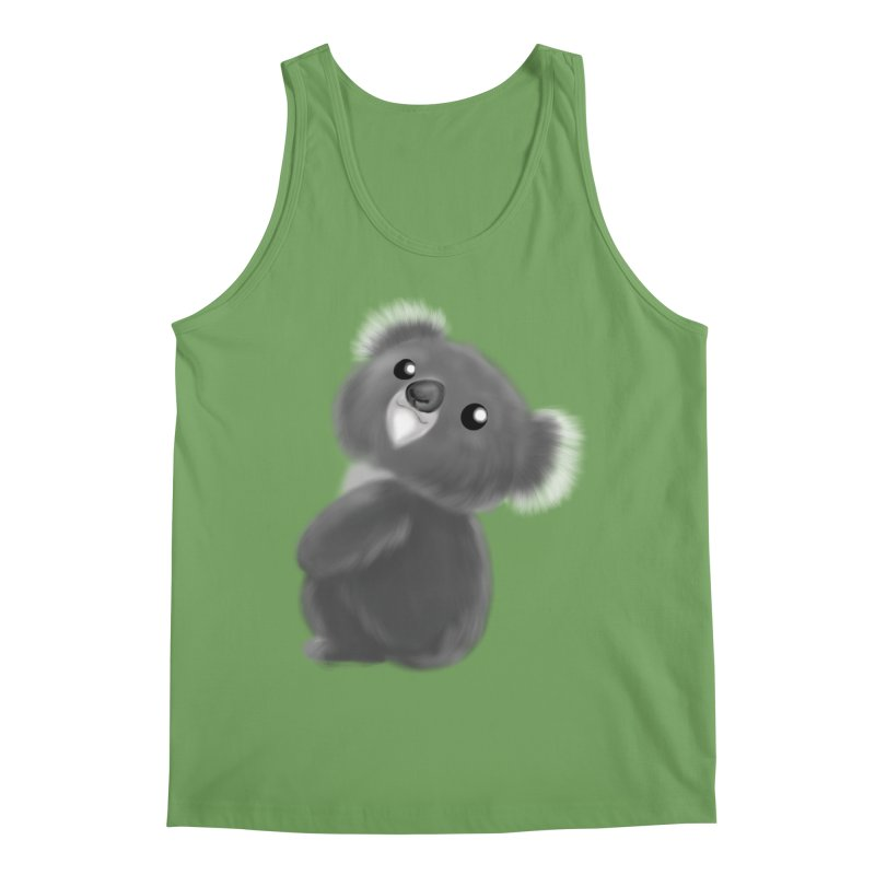 Fluffy Koala Men's Tank by Dino & Panda Artist Shop