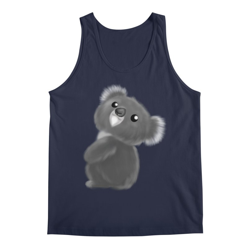 Fluffy Koala Men's Regular Tank by Dino & Panda Inc Artist Shop