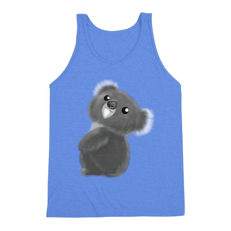 Fluffy Koala Men's Triblend Tank by Dino & Panda Inc Artist Shop