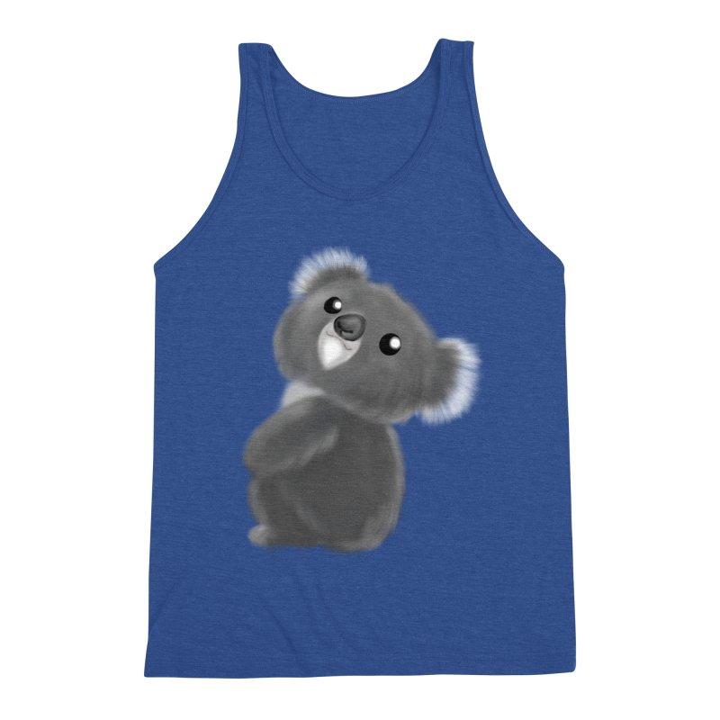 Fluffy Koala Men's Tank by Dino & Panda Artist Shop
