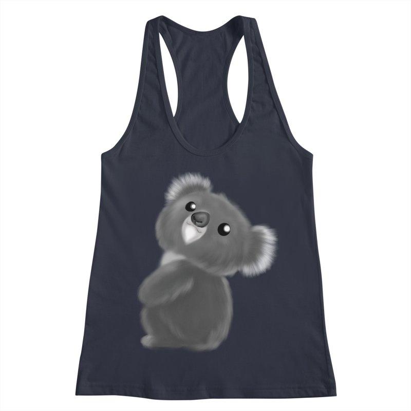Fluffy Koala Women's Racerback Tank by Dino & Panda Inc Artist Shop