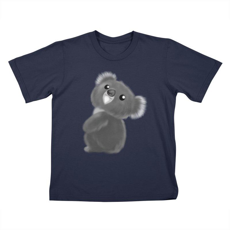 Fluffy Koala Kids T-Shirt by Dino & Panda Artist Shop