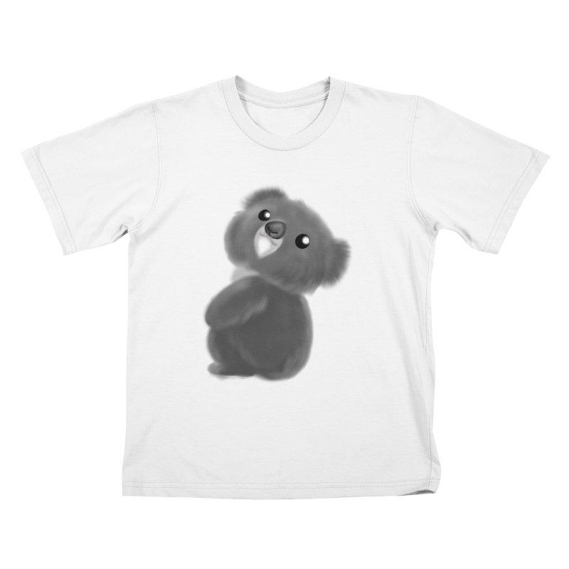 Fluffy Koala Kids T-Shirt by Dino & Panda Inc Artist Shop
