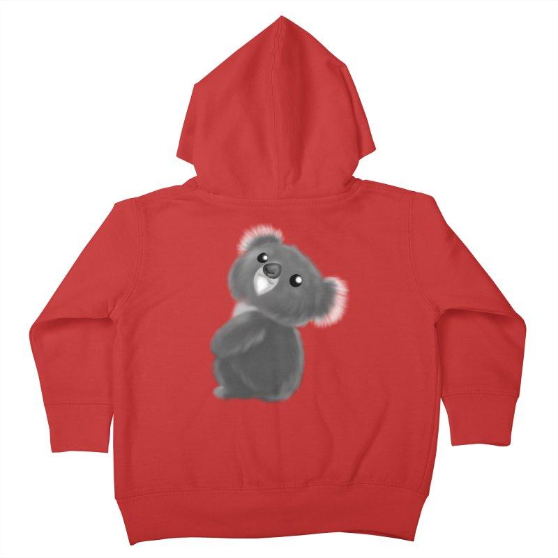 Fluffy Koala Kids Toddler Zip-Up Hoody by Dino & Panda Artist Shop