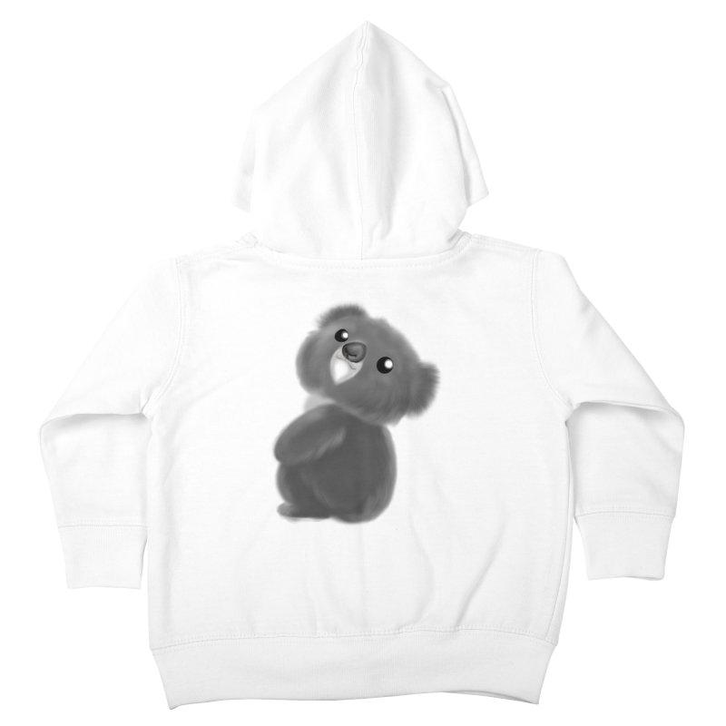 Fluffy Koala Kids Toddler Zip-Up Hoody by Dino & Panda Inc Artist Shop