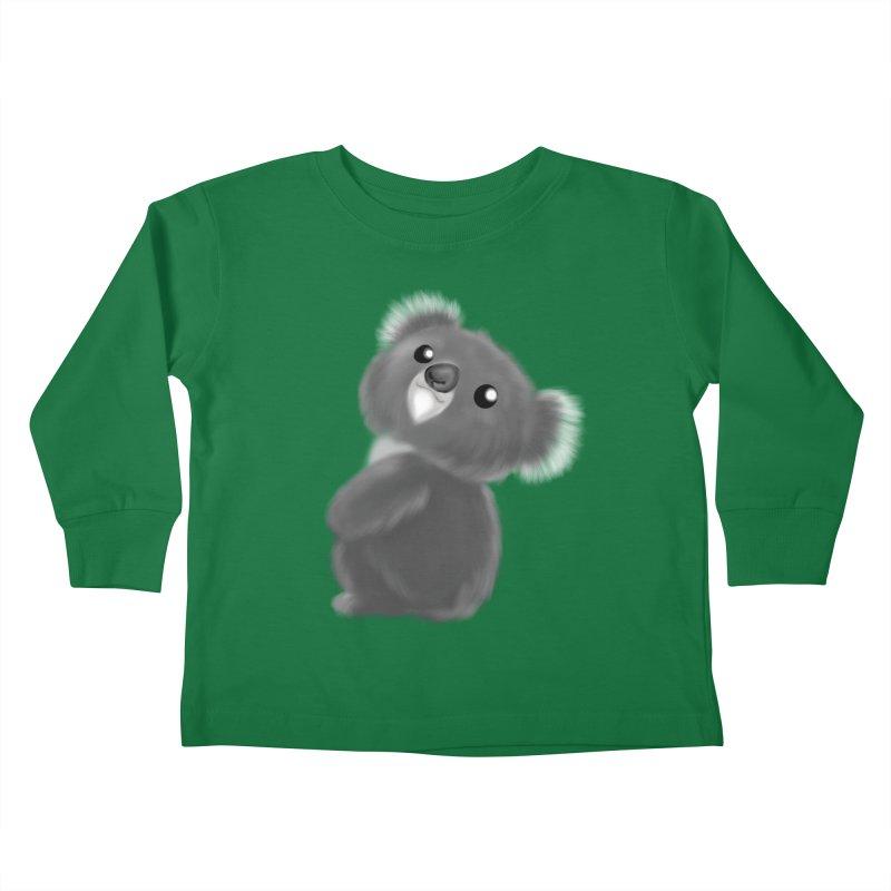 Fluffy Koala Kids Toddler Longsleeve T-Shirt by Dino & Panda Artist Shop