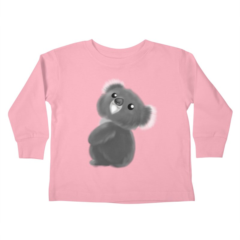 Fluffy Koala Kids Toddler Longsleeve T-Shirt by Dino & Panda Inc Artist Shop