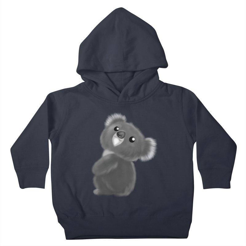 Fluffy Koala Kids Toddler Pullover Hoody by Dino & Panda Inc Artist Shop
