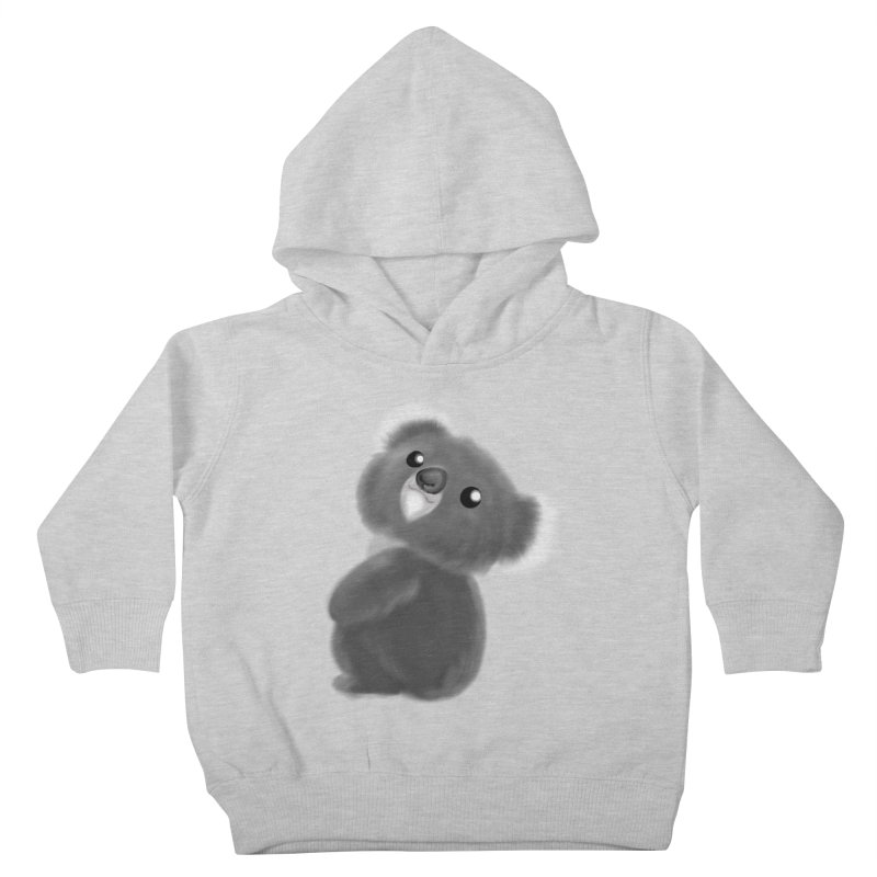 Fluffy Koala Kids Toddler Pullover Hoody by Dino & Panda Artist Shop