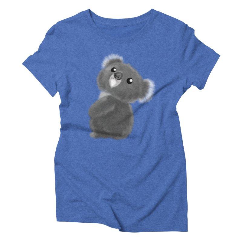 Fluffy Koala Women's Triblend T-Shirt by Dino & Panda Inc Artist Shop