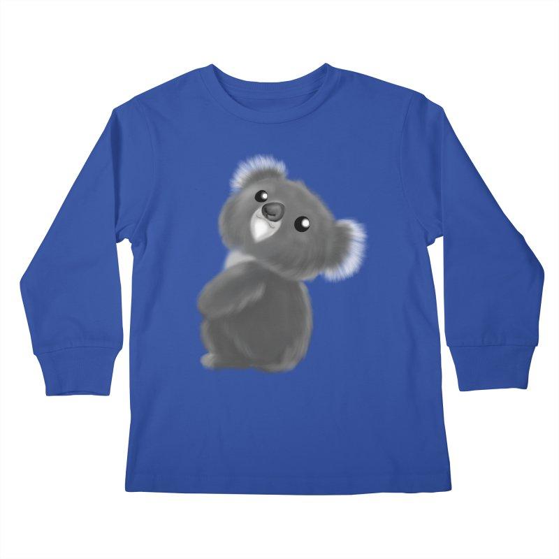 Fluffy Koala Kids Longsleeve T-Shirt by Dino & Panda Artist Shop