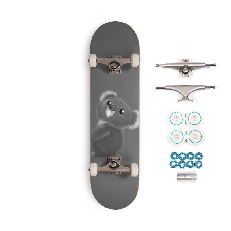 Fluffy Koala Accessories Skateboard by Dino & Panda Artist Shop