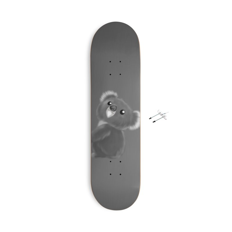 Fluffy Koala Accessories Skateboard by Dino & Panda Artist Shop