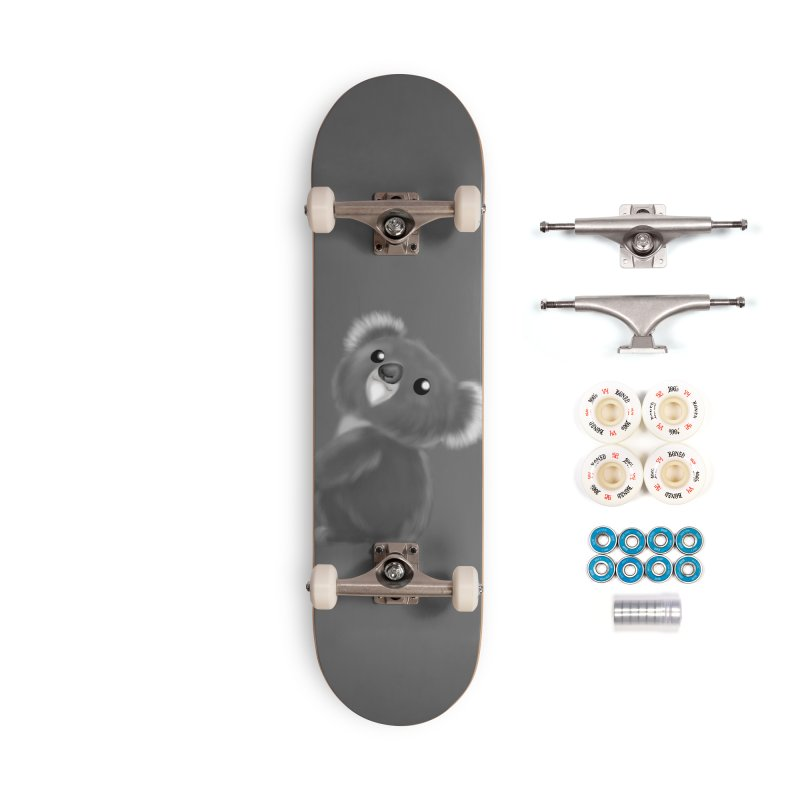 Fluffy Koala Accessories Complete - Premium Skateboard by Dino & Panda Inc Artist Shop