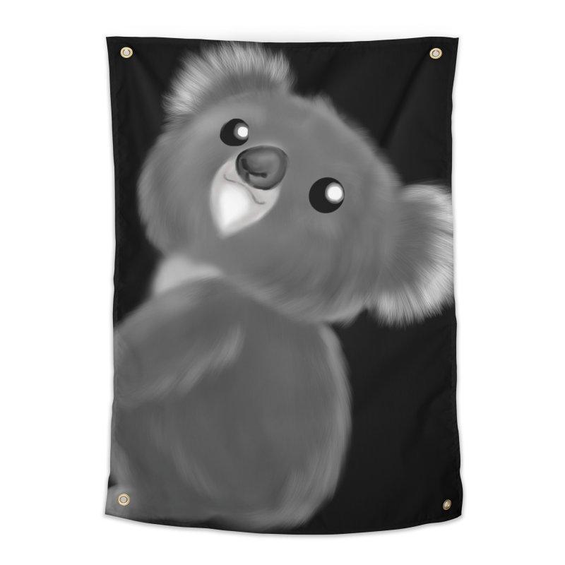 Fluffy Koala Home Tapestry by Dino & Panda Inc Artist Shop