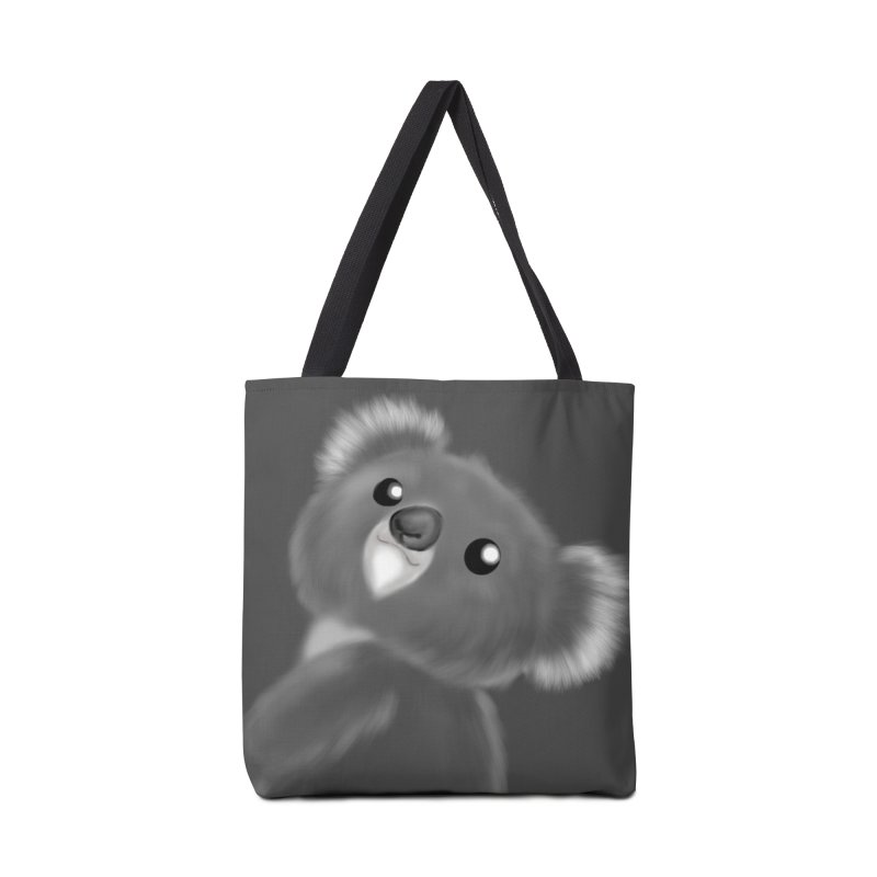 Fluffy Koala Accessories Bag by Dino & Panda Artist Shop