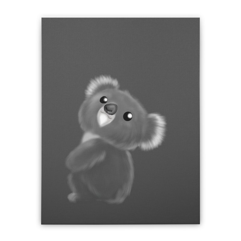 Fluffy Koala Home Stretched Canvas by Dino & Panda Inc Artist Shop