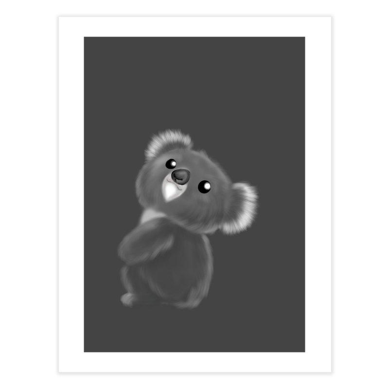 Fluffy Koala Home Fine Art Print by Dino & Panda Artist Shop
