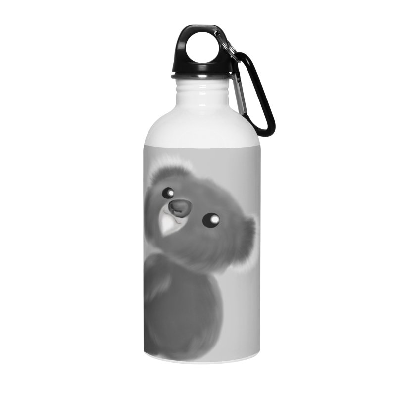 Fluffy Koala Accessories Water Bottle by Dino & Panda Inc Artist Shop