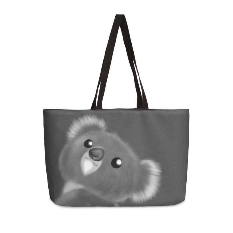 Fluffy Koala Accessories Weekender Bag Bag by Dino & Panda Inc Artist Shop