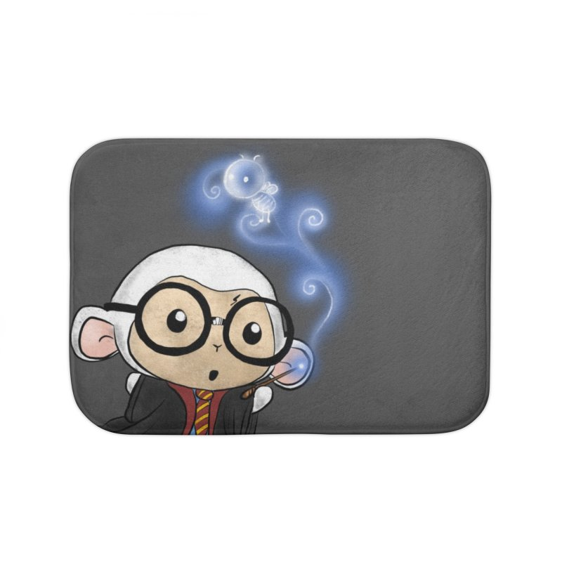 Lambie Potter and his Patronus Home Bath Mat by Dino & Panda Inc Artist Shop