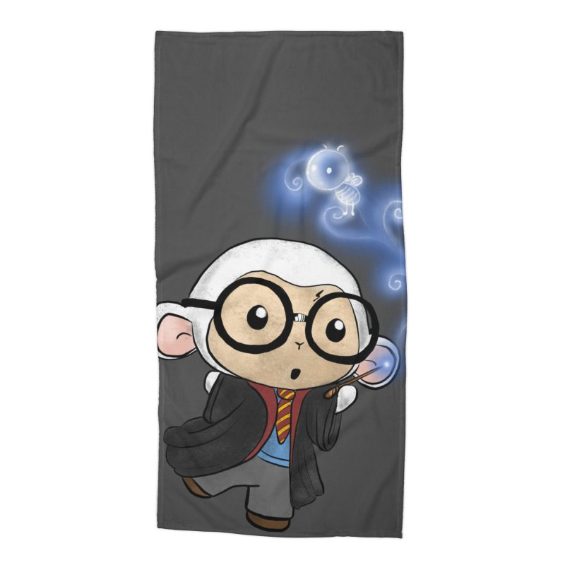 Lambie Potter and his Patronus Accessories Beach Towel by Dino & Panda Artist Shop