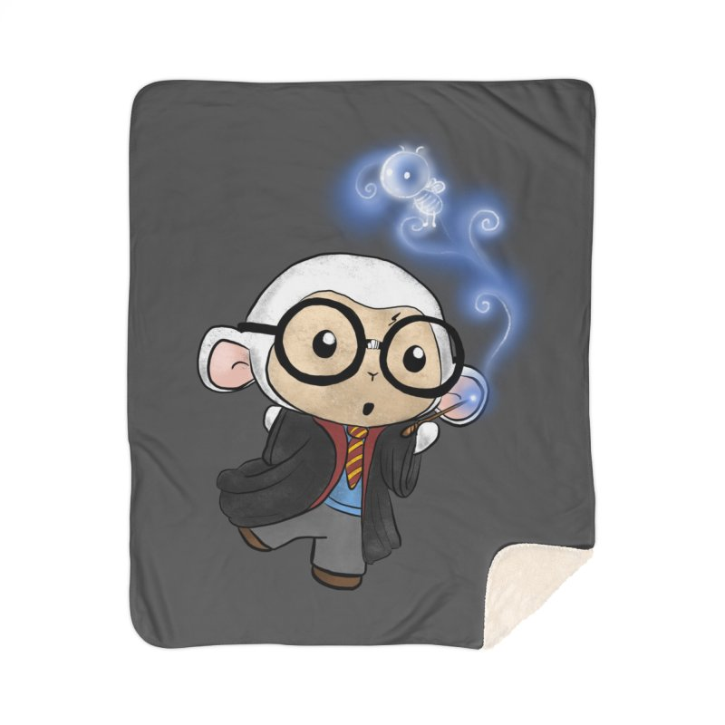 Lambie Potter and his Patronus Home Blanket by Dino & Panda Artist Shop
