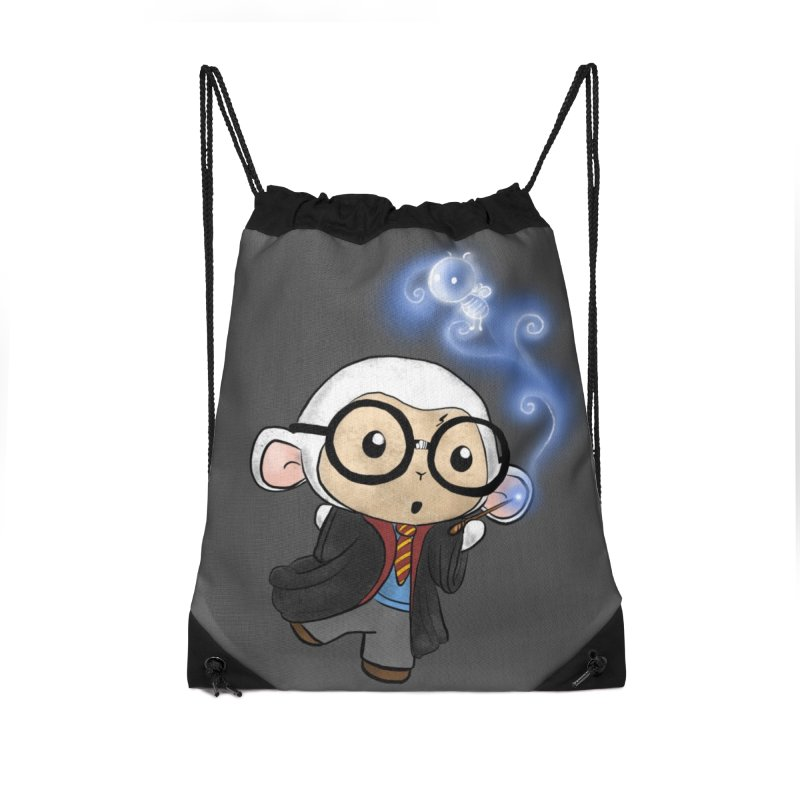 Lambie Potter and his Patronus Accessories Drawstring Bag Bag by Dino & Panda Inc Artist Shop
