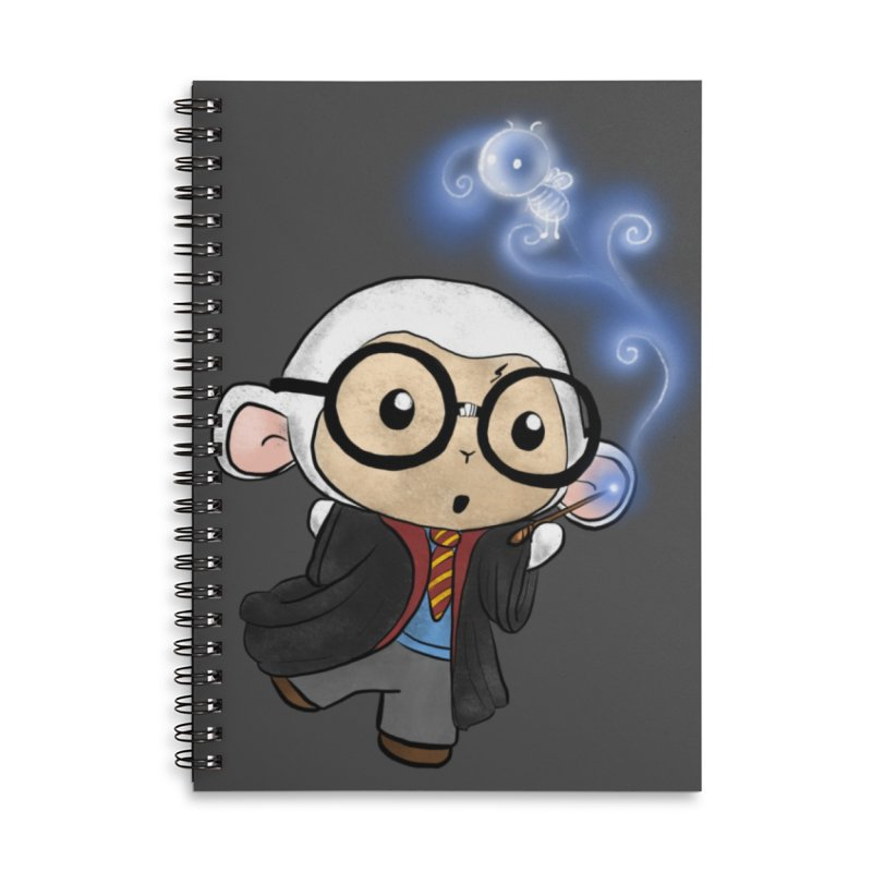 Lambie Potter and his Patronus Accessories Lined Spiral Notebook by Dino & Panda Inc Artist Shop