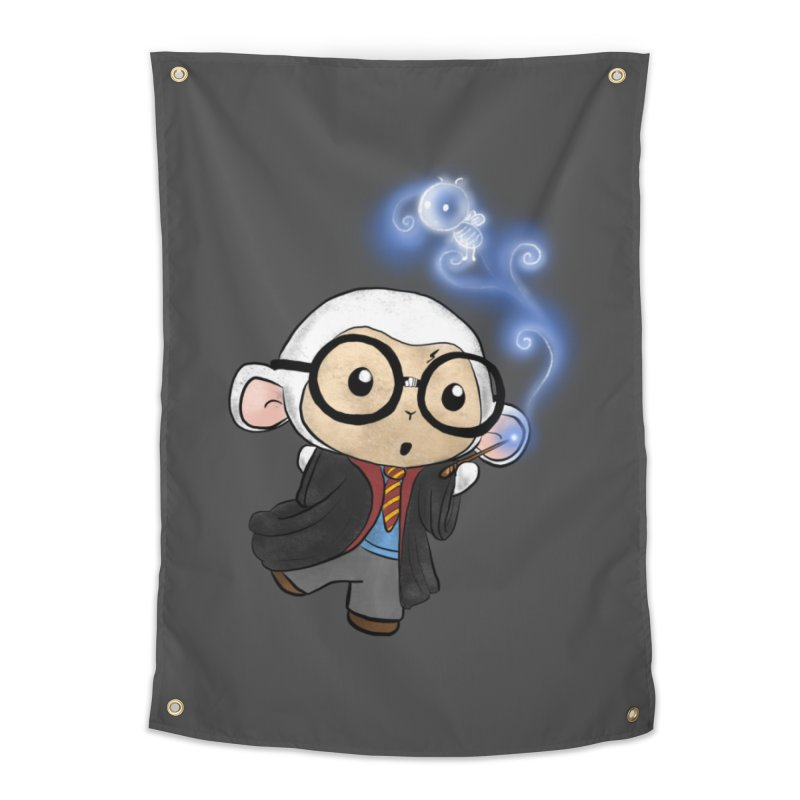 Lambie Potter and his Patronus Home Tapestry by Dino & Panda Inc Artist Shop