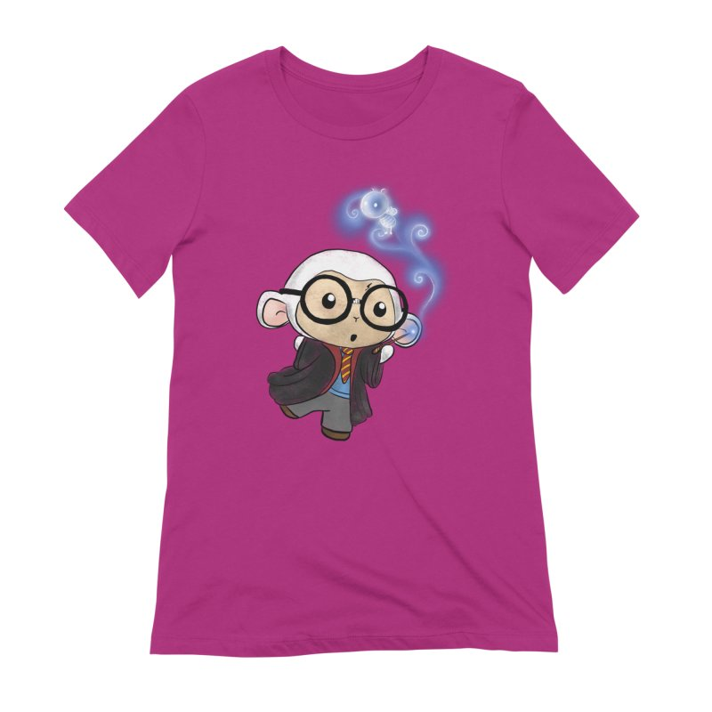 Lambie Potter and his Patronus Women's Extra Soft T-Shirt by Dino & Panda Inc Artist Shop