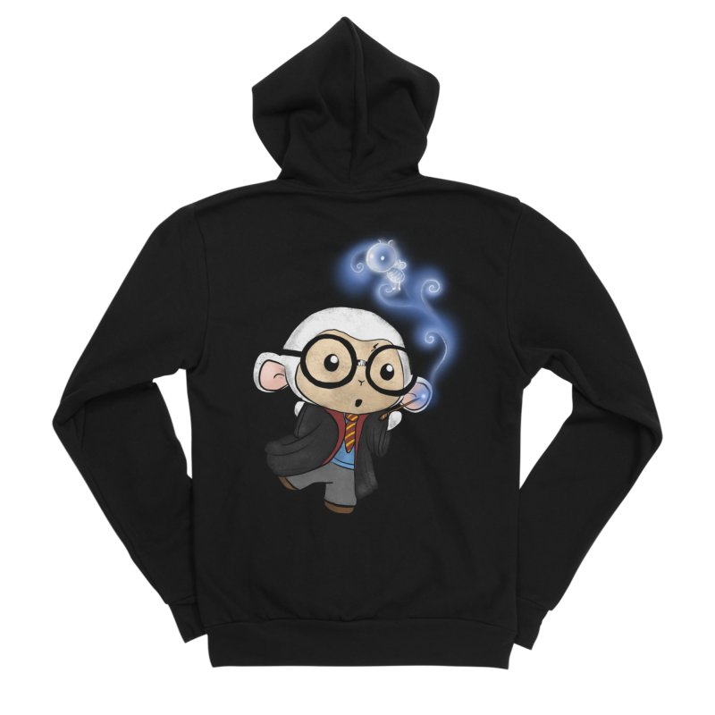 Lambie Potter and his Patronus Women's Sponge Fleece Zip-Up Hoody by Dino & Panda Inc Artist Shop
