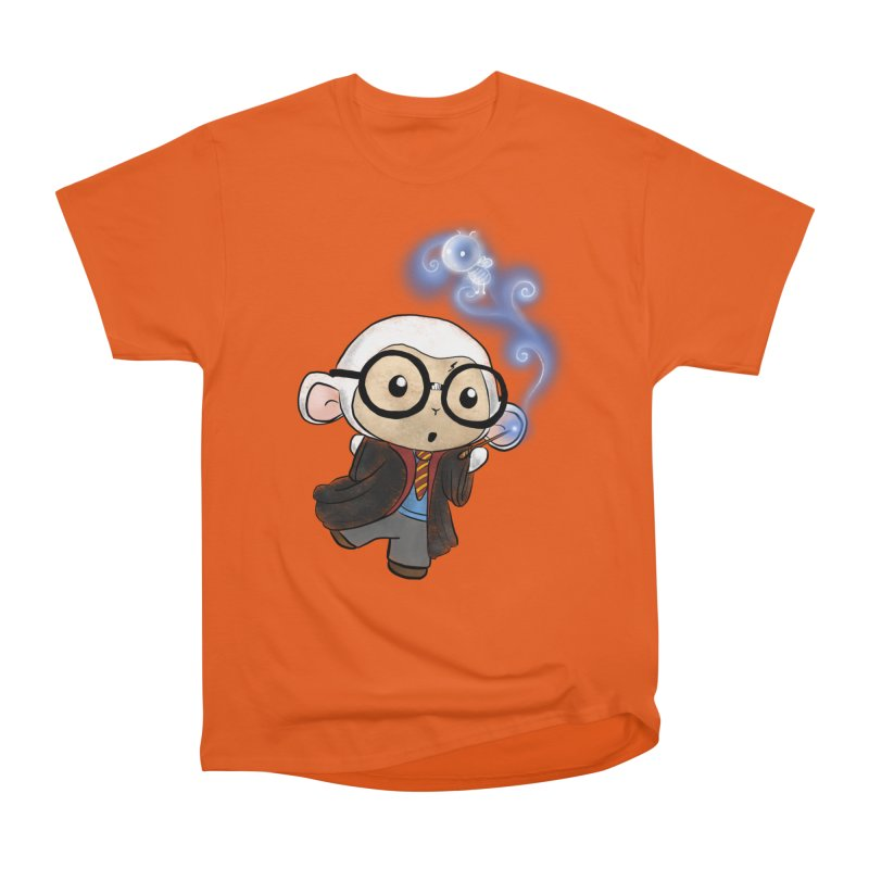 Lambie Potter and his Patronus Women's Heavyweight Unisex T-Shirt by Dino & Panda Inc Artist Shop