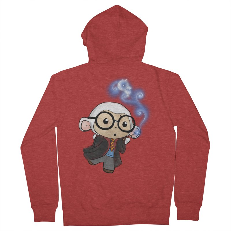 Lambie Potter and his Patronus Women's French Terry Zip-Up Hoody by Dino & Panda Inc Artist Shop