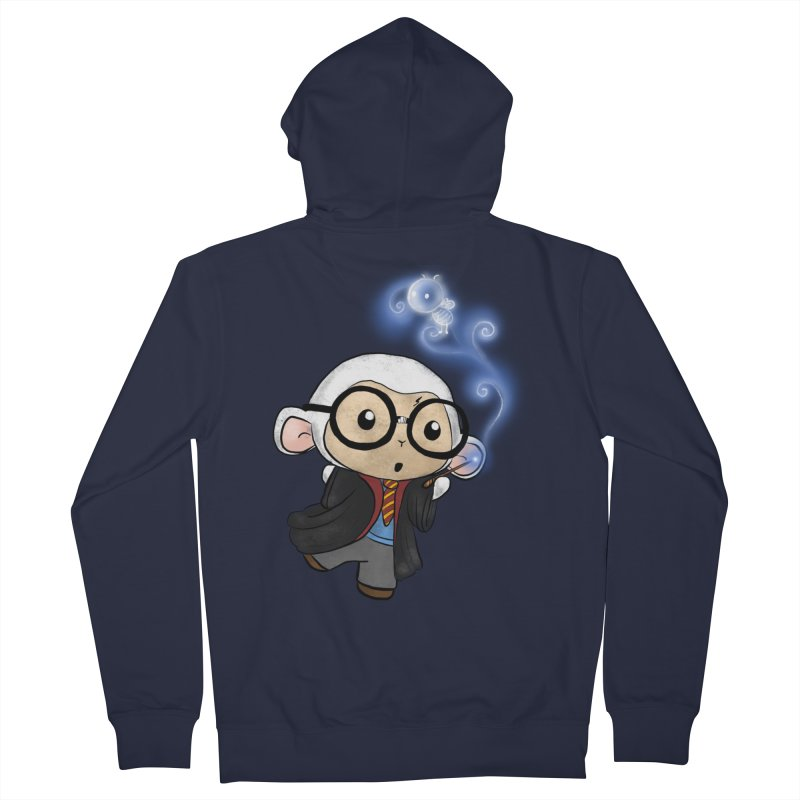 Lambie Potter and his Patronus Men's French Terry Zip-Up Hoody by Dino & Panda Inc Artist Shop