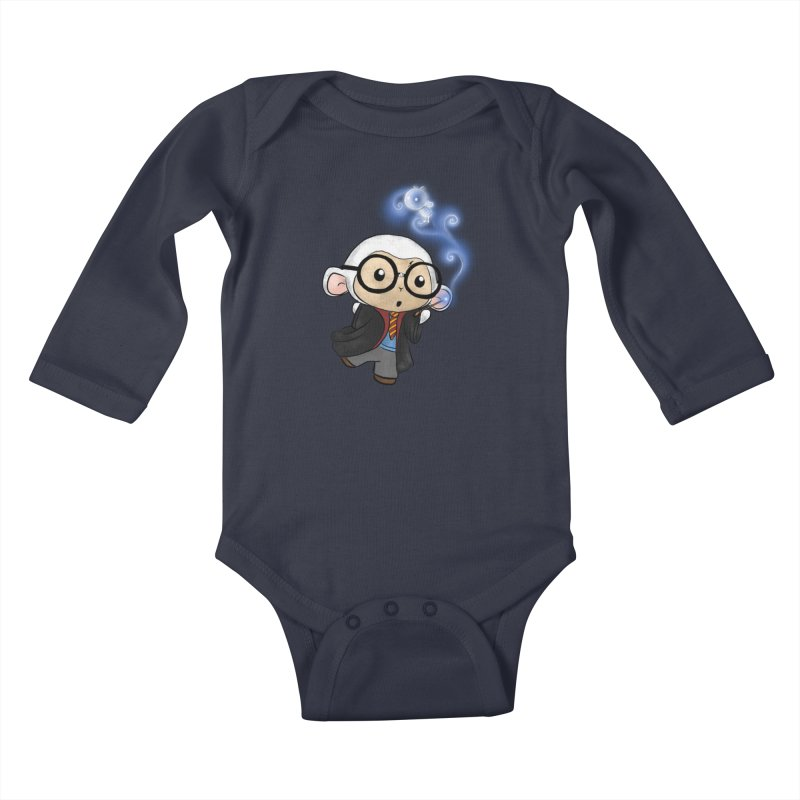 Lambie Potter and his Patronus Kids Baby Longsleeve Bodysuit by Dino & Panda Artist Shop