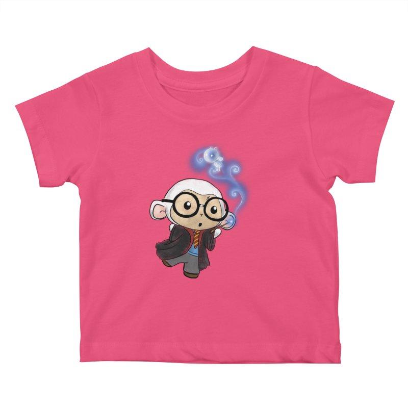 Lambie Potter and his Patronus Kids Baby T-Shirt by Dino & Panda Inc Artist Shop