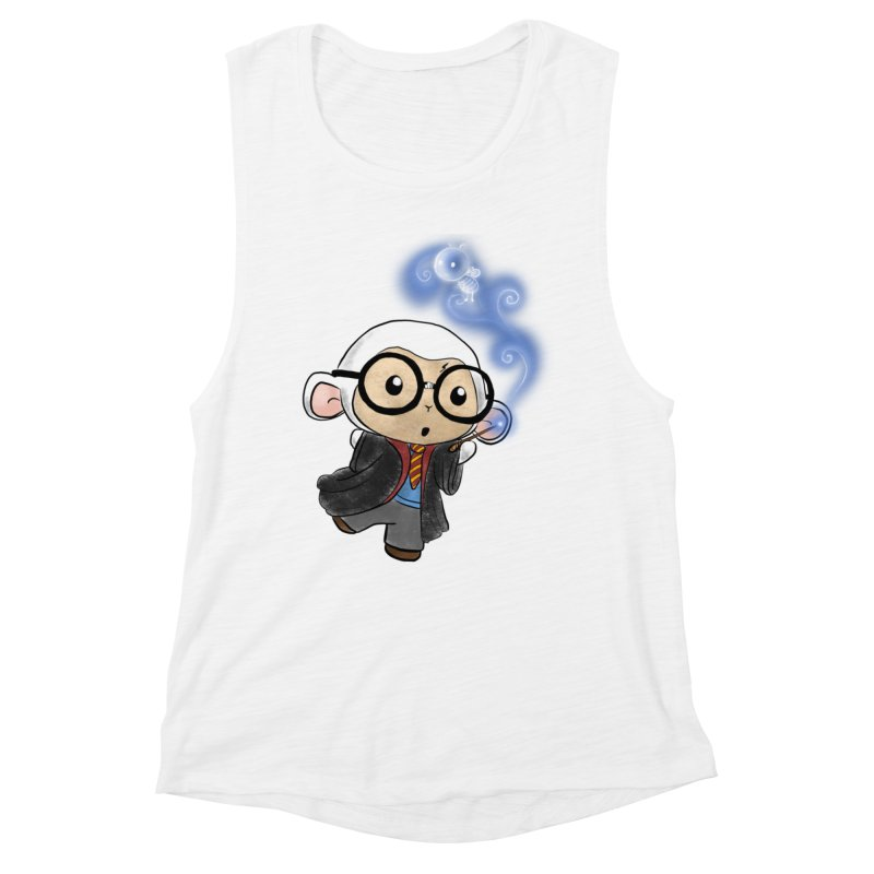 Lambie Potter and his Patronus Women's Muscle Tank by Dino & Panda Inc Artist Shop